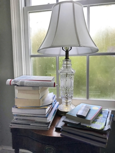 lamp on bedside table